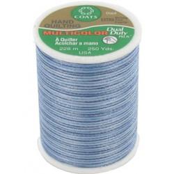 Bobine de 228m de fil multicolor Dual Duty à quilter - bleu (Coloris 845)