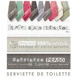 Fiche Idée Serviette de toilette (réf. D008)