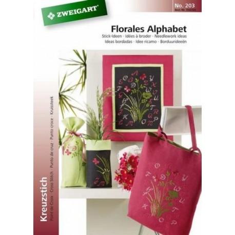 Catalogue No. 203 - Idées à broder - Florales Alphabet