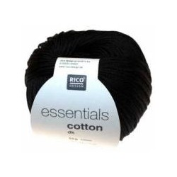 Rico Design - Essentials Cotton DK - Couleur Noir ou 90