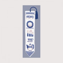 Marque-page Vaisselle Bleue