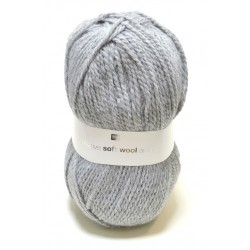 Laine Creative Soft Wool Aran - Coloris Gris Clair ou 016