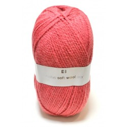 Laine Creative Soft Wool Aran - Coloris Cerise ou 009