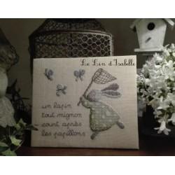 Lapin et papillons