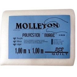 Molleton polyester Nuage 1 m x 1 m