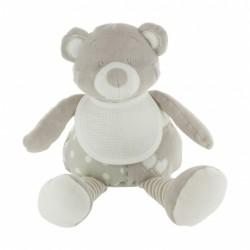Doudou ours gris et blanc