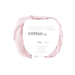Rico Design - Essentials Cotton DK - Couleur Smokey Rose ou 10