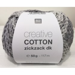 Creative Cotton Zickzack Dk - Coloris Gris ou 007