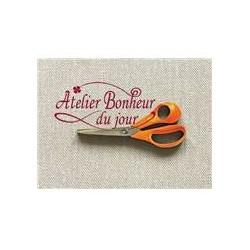 """Bouton """"Ciseaux Tissu Orange"""""""