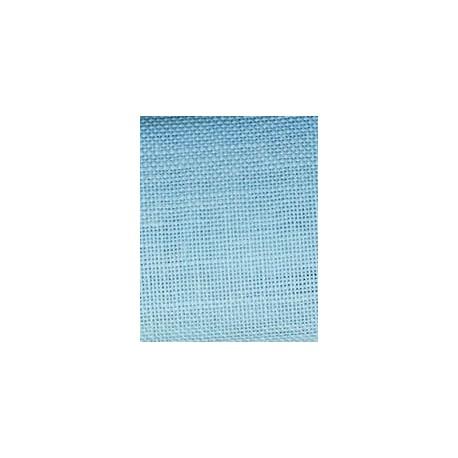 Toile de lin à broder coloris bleu azur