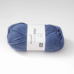 Baby Cotton Soft Bleu Jean 50G/125M