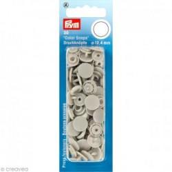 Prym : Boutons pressions color snaps  gris 12.4mm