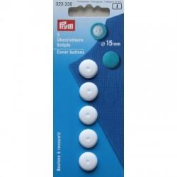 Bouton/recouvrir 15mm plastique blanc sans outil