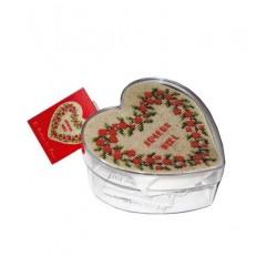 Boîte coeur baies rouges Présentation cadeau