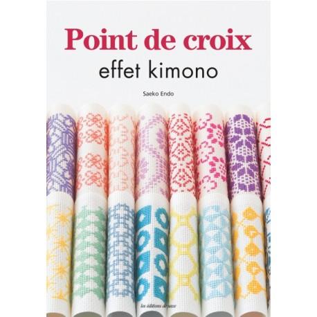 Point de croix effet kimono