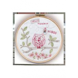 Kit broderie traditionnelle Monsieur Hibou