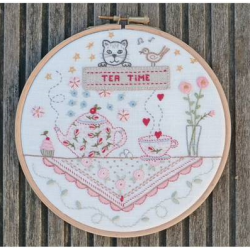 Kit broderie traditionnelle Tea Time
