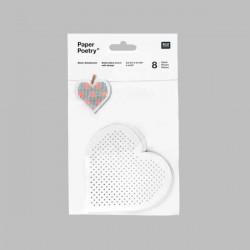 Coeur carton à broder