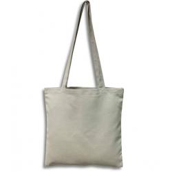 Sac ou tote bag gris à broder