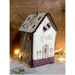 """Kit de patchwork - Maison lumineuse """"Home"""""""