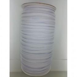 Elastique Plat coloris blanc (vendu au mètre)