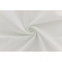 Tissu d'éponge en nid d'abeille blanc