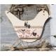 The Bee Company - Fiche de point de croix Oiseau & coeur