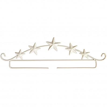 Porte décor étoiles coloris blanc