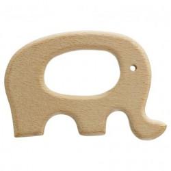 Anneau de dentition bébé en bois éléphant