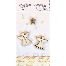 The Bee Company - Boutons 2 anges