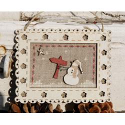"""The Bee Company - Fiche de point compté - Cadre """"Noël"""""""