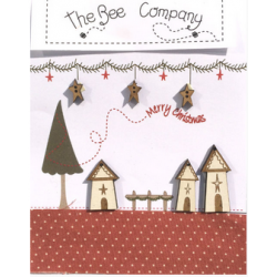 "The Bee Company - Boutons Village ""Merry Christmas"""