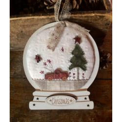 """The Bee Company - Kit de patchwork - Boule à neige """"Camion Vintage Noël"""""""