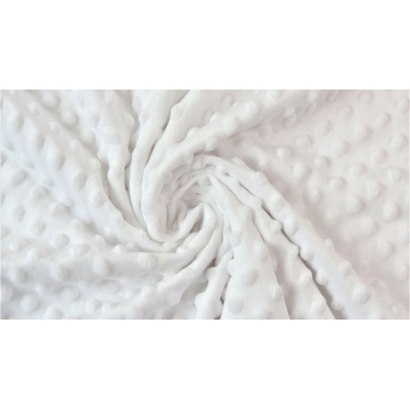 Minky Polaire coloris blanc