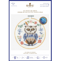 DMC - Kit de broderie point de croix : un hibou si mignon