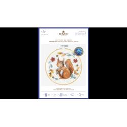 DMC - Kit de broderie point de croix : un écureuil si mignon