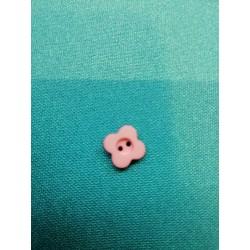 bouton plat fleur rose 2 trous