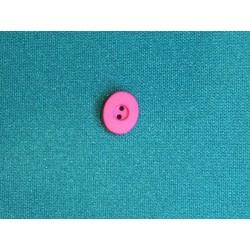 Bouton ovale et plat rose à trou