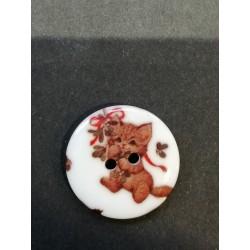 Bouton de Noël plat 2,5 cm