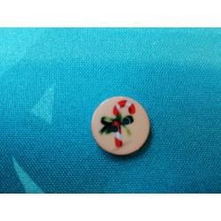 Bouton de Noël plat 2 cm