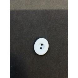 bouton plat ovale bleu ciel