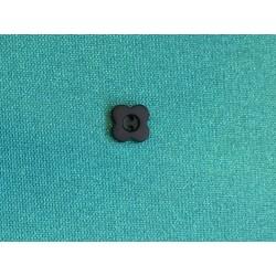 Bouton noir mat à 2 trous