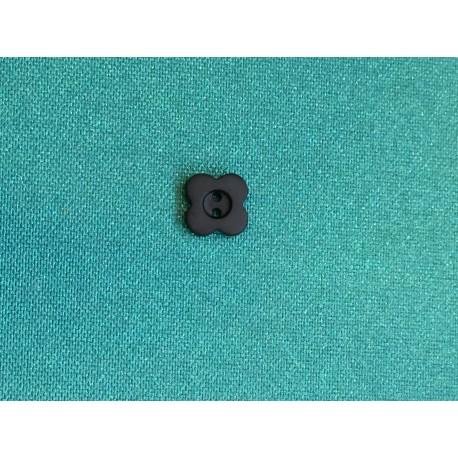 Boutons noir mat à 2 trous