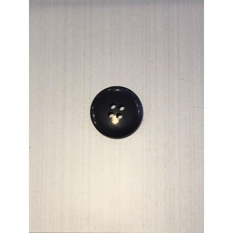 Bouton rond noir à 4 trous