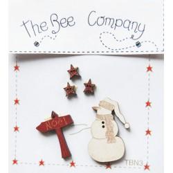 The Bee Company : Bouton en bois Noël