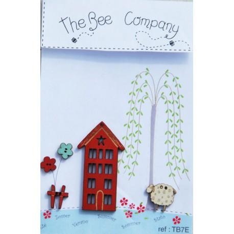 The Bee Company : Boutons bois maison d'été