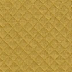 France Duval - Tissu jersey matelassé coloris banane