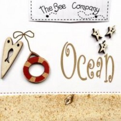 THE BEE COMPANY : Bouton Océan rouge