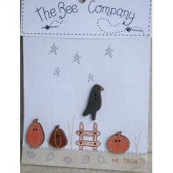 "THE BEE COMPANY : Boutons ""corbeau d'automne"""