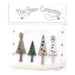 THE BEE COMPANY : boutons de Noël  (vendu par 2)